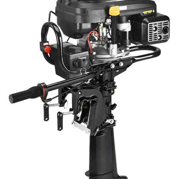 Outboard Motors, 4 Stroke 7.5Hp 196cc Air-cooled Boat Engine Outboard Boat Motor - enginediy