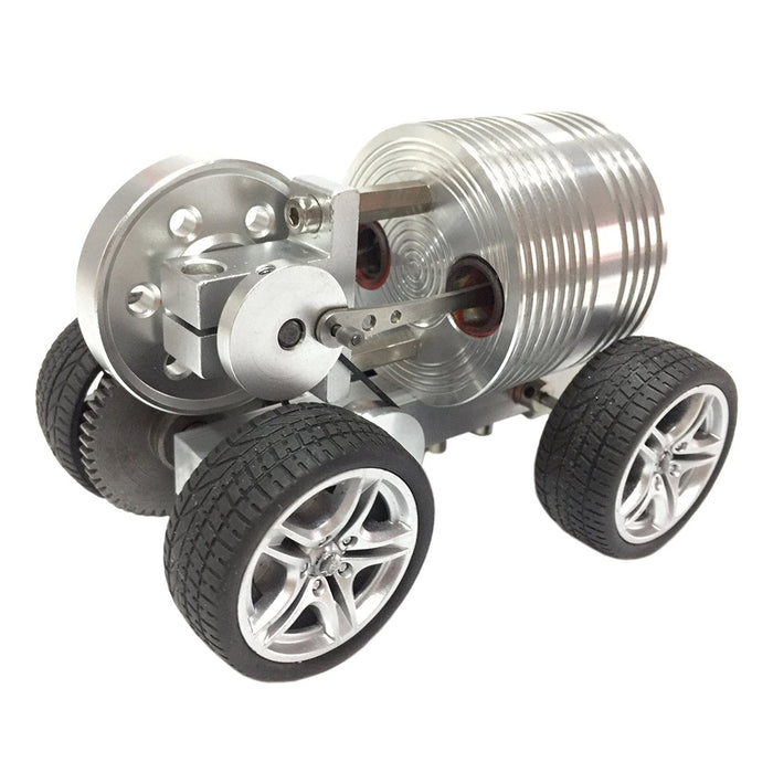 enginediy Engine Models Rubber Wheel Car Stirling Engine Car Model DIY Stirling Engine Vehicle Kit Toy Enginediy