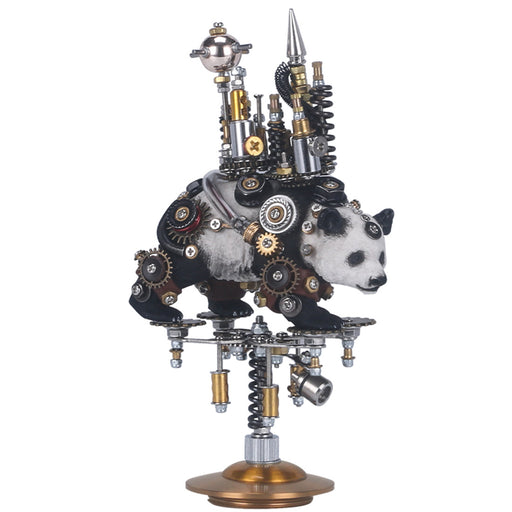 3D Metal Model Kit Mechanical Panda Castle DIY Games Assembly Puzzle Jigsaw Creative Gift - 290Pcs - enginediy