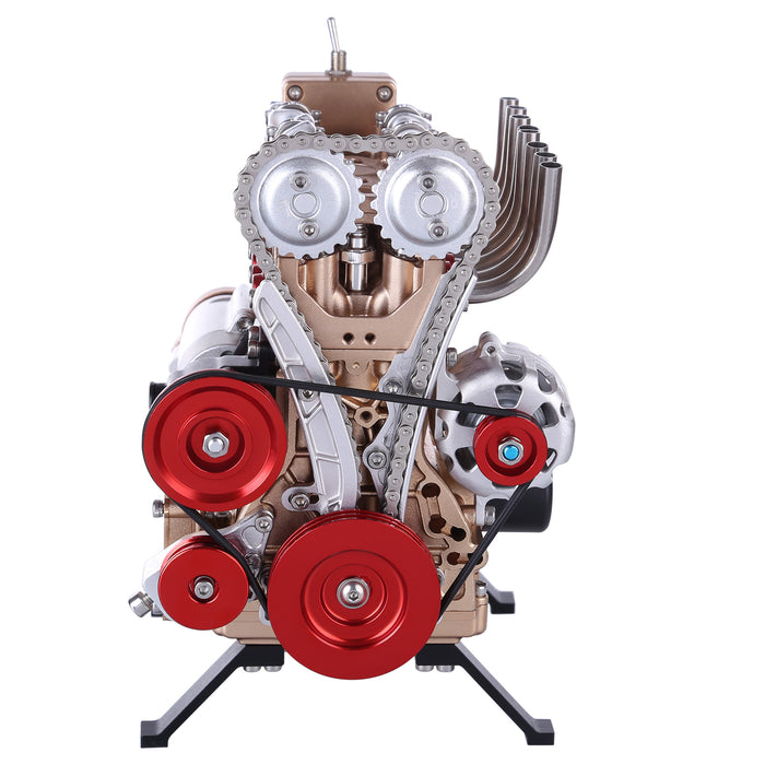 Teching Engine Assembly Kit Full Metal 4 Cylinder Car Engine Building Kit Gift STEM Education Collection - Enginediy