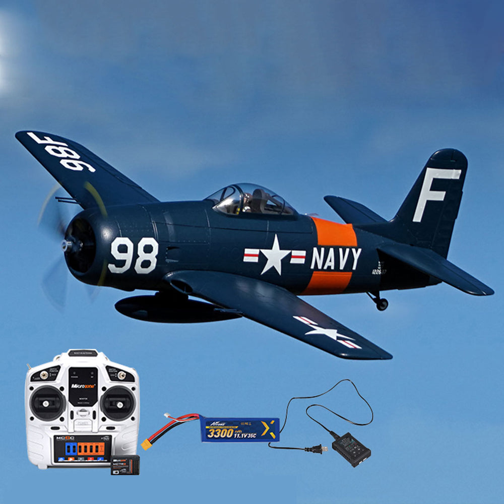 1100mm F8F Bearcat RC Plane Electric Airplanes DIY Model - RTF - enginediy