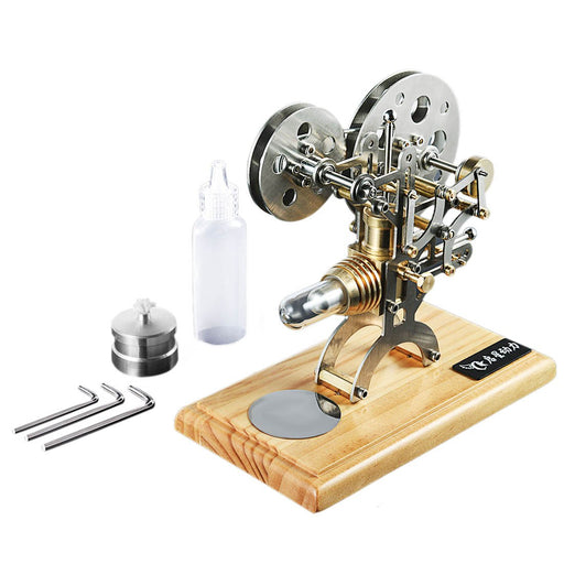 enginediy Single Cylinder Stirling Engine Stirling Engine Kit Nostalgic Film Projector Design External Combustion Engine Model
