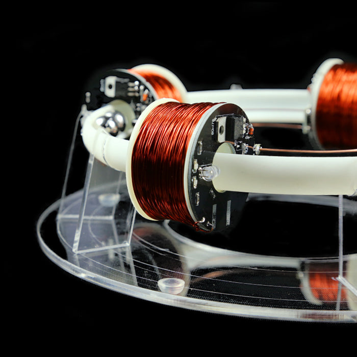 Stark 4 Coils Ring Accelerator Cyclotron High-tech Physics Model - enginediy