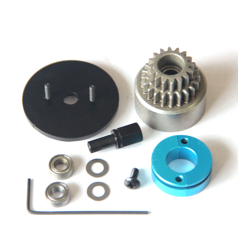 Double Gears Clutch Assembly RC Model Ship Upgrade Part for TOYAN FS-L200 Double-cylinder 4-stroke Methanol Engine Model - enginediy
