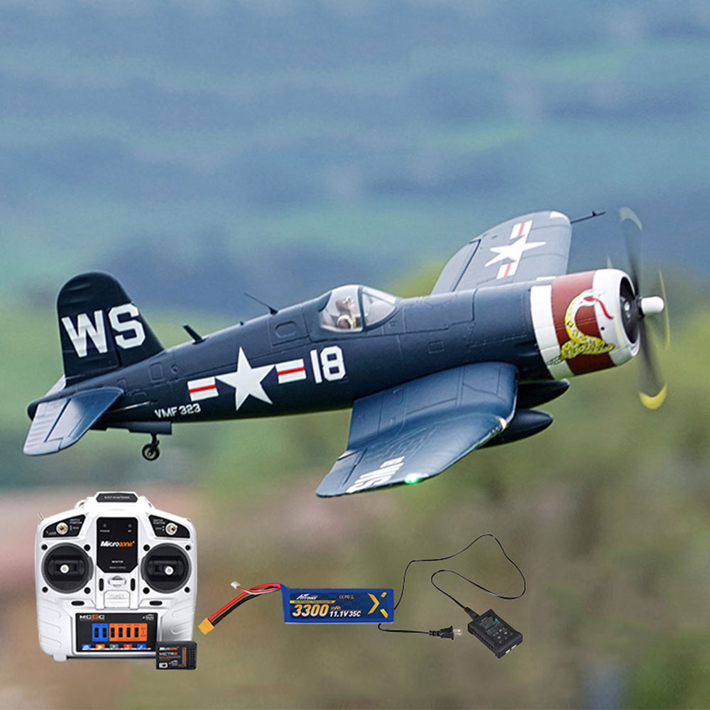 1100mm F4U-4 Corsairs RTF RC Plane Electric Airplanes Attack Fighter Aircraft DIY Model - enginediy