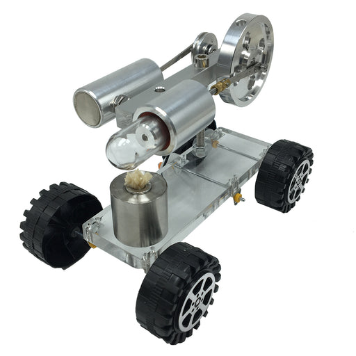 Stirling Engine Car Model Stirling Engine Motor Model Physical Experiment Science Education Toy Gift - Enginediy
