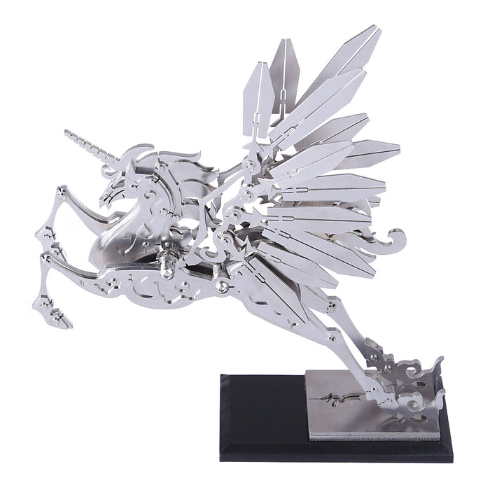 3D Metal Model Kit Mechanical Unicorn DIY Games Assembly Puzzle Jigsaw Creative Gift - 152Pcs - enginediy