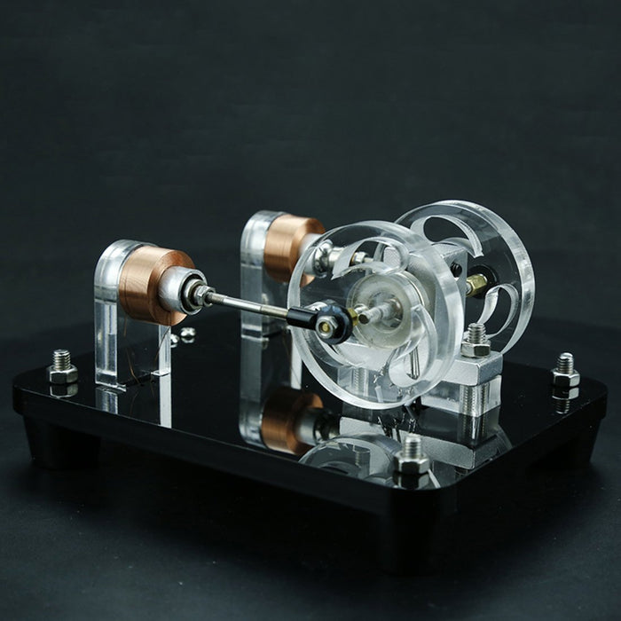 enginediy Engine Models Engine DIY Kit Dual-coil Brushless Motor Hall Electric Machine Physical Experiment Engine Model Toy
