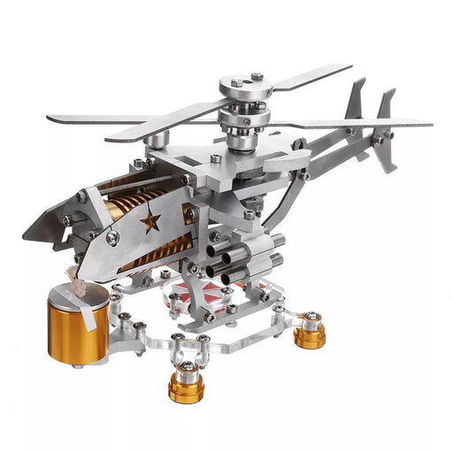 enginediy Engine Models Stirling Engine Kit Helicopter Design Vacuum Engine Model Gift Collection