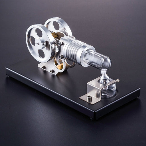 enginediy Single Cylinder Stirling Engine Stirling Engine DIY Manson Engine Model Set with Metal Baseplate Toy for Children