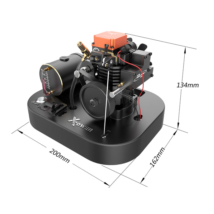 Toyan Engine FS-S100AC DIY RC Engine Building Kit Set with Toyan Base (All Start Kit Included) - enginediy