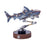3D Metal Model Kit Mechanical Shark DIY Games Assembly Puzzle Jigsaw Creative Gift - 217Pcs - enginediy