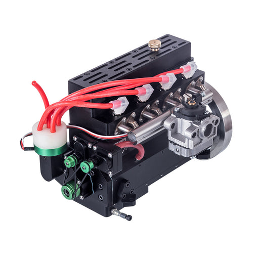 32cc Inline Four Cylinder Water Cooled Gasoline Engine for 1: 5 RC Model Car / Ship/ Airplane - enginediy