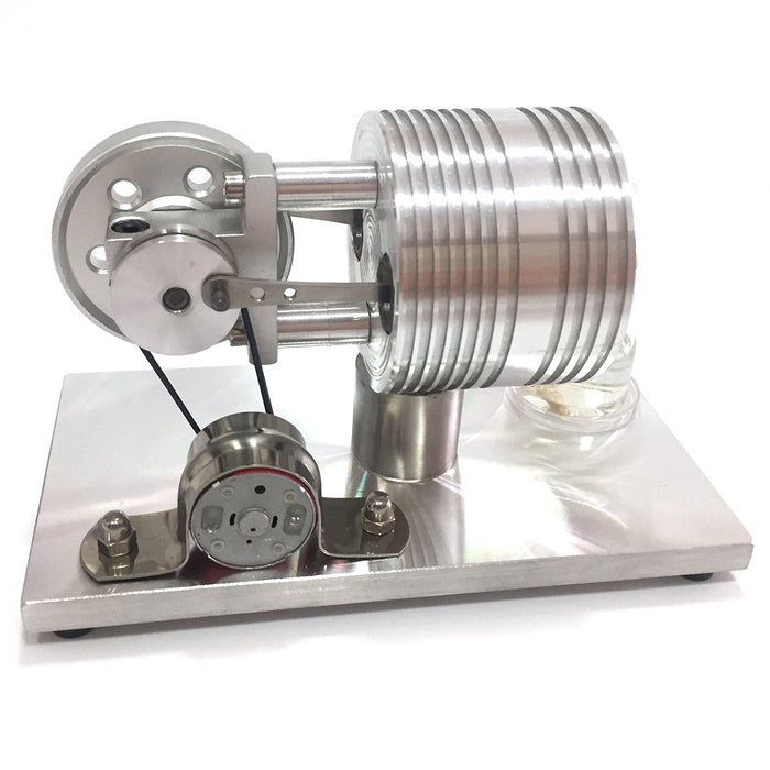 Stirling Engine with Generator External Combustion Engine Model Toy - enginediy