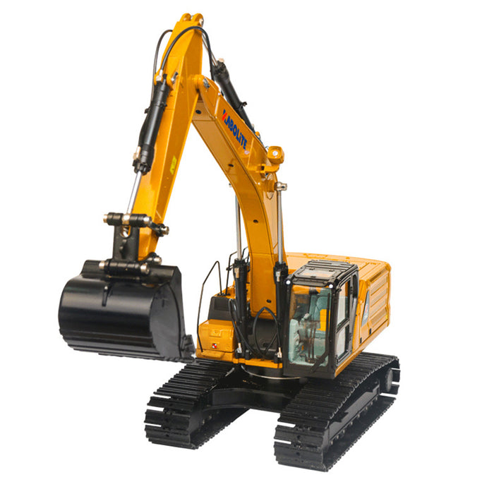 1: 16 2.4 RC Excavator Simulation Hydraulic Drive Grab All Alloy Engineering Vehicle Model - enginediy