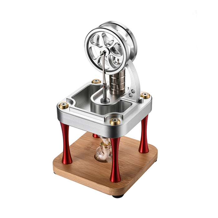 Water Cooled High Temperature Stirling Engine Model Metal Science Experiment Engine