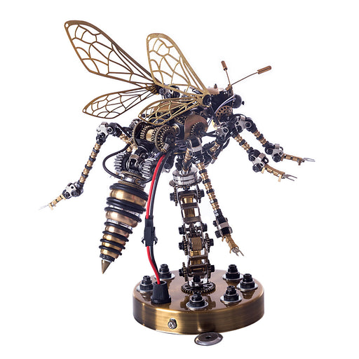 Sound Control 3D Puzzle Model Kit Mechanical Wasp  Metal Assembly DIY Model Jigsaw Crafts