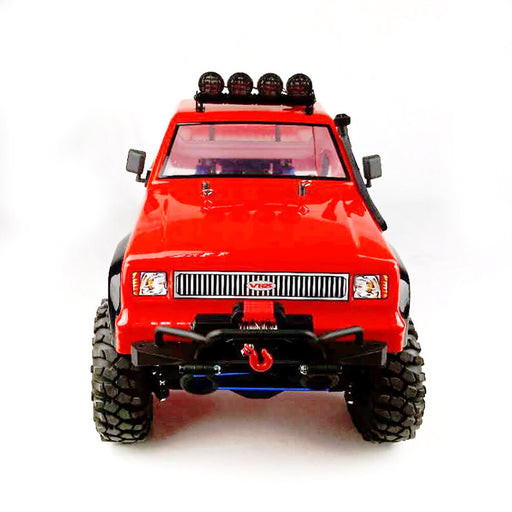 VRX RH1053 1/10 Scale 4WD Two Speed Brushed RTR Off-road Crawler 2.4GHz RC Car with Light Winch, 60A ESC, 550 Motor - R0280 Orange - enginediy