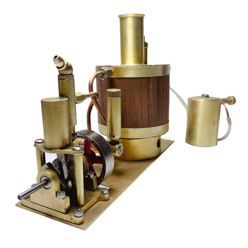 Mini Single-cylinder Steam Engine Set with Boiler for Model Ship within 50cm