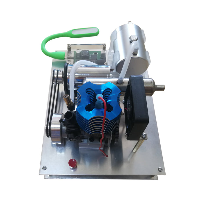 VX 18 Single Cylinder 2-stroke Air-cooled Assembled Gasoline Engine Generator Model with Voltage Digital Display and Dual USB Charging Module (One-key Electric Star) - enginediy