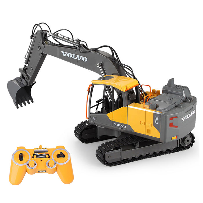 2.4G RC Excavator Remote Control Construction Navvy Engineering Truck Model Unique Toys Gift for Kids, Teens and Adults - enginediy