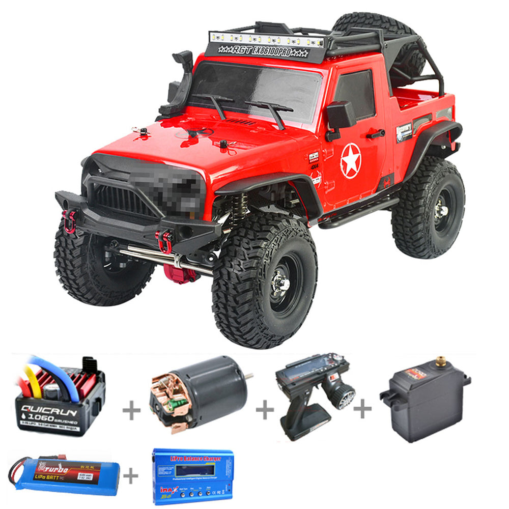 RGT EX86100 PRO 1:10 2.4G 4WD All Terrain RC Crawler Vehicle Model - RTR Version - enginediy
