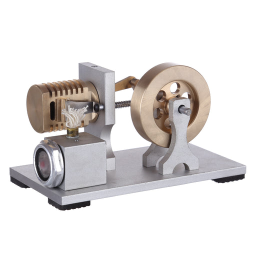 Single Cylinder Stirling Engine Model Flame Licker Eater Engine Vacuum Stirling Engine Model with Double Bearing Support - Enginediy  Customized - enginediy