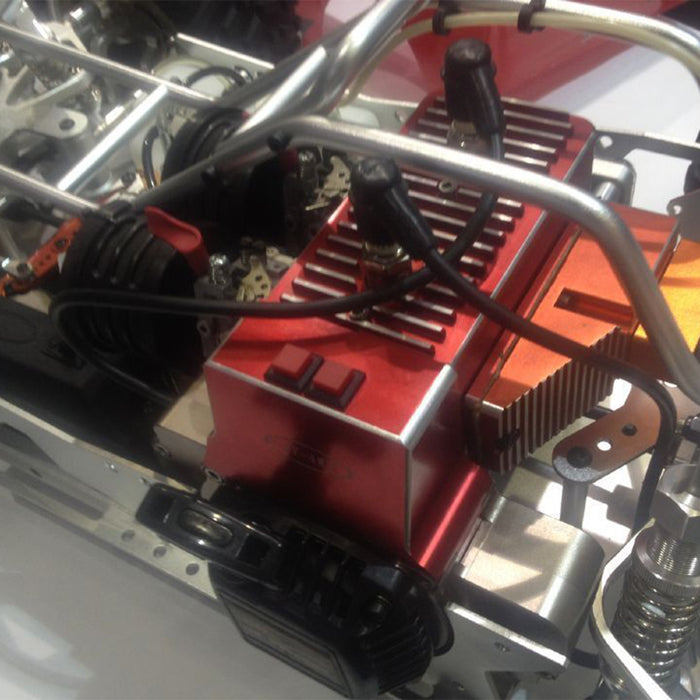 CNC 60cc Inline Double-cylinder Gasoline Engine for 1/5 RC Model Car HPI BAJA LOSI 5T
