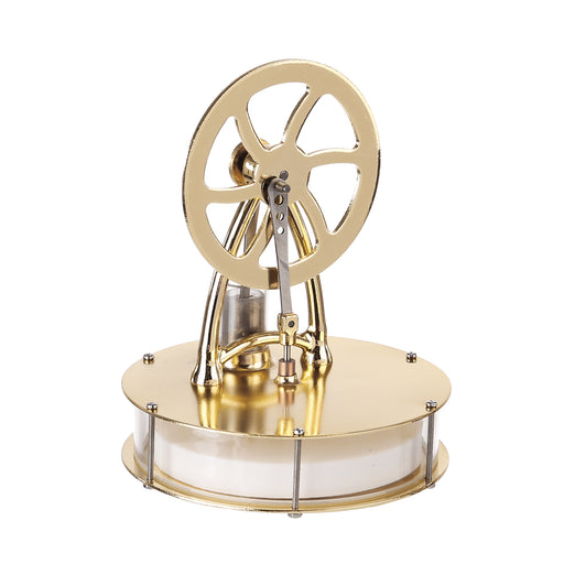 Low Temperature Differential Stirling Engine Model Science Experiment Educational Toy - Golden - enginediy