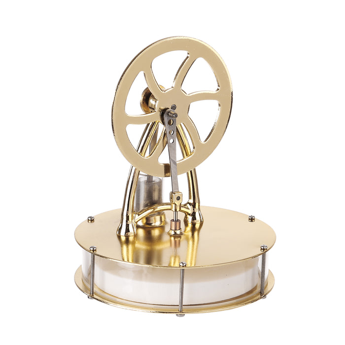 Low Temperature Differential Stirling Engine Model Science Experiment Educational Toy - Golden