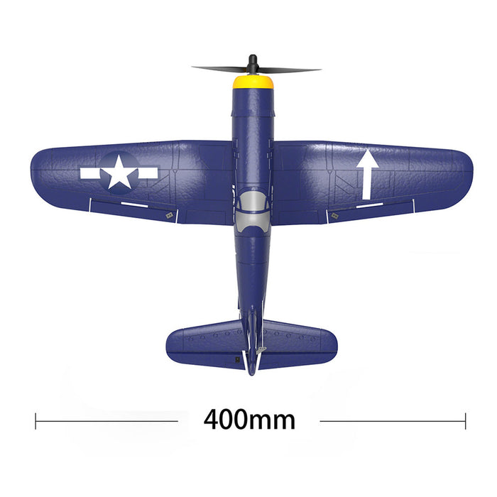 VOLANTEXRC F4U Corsair Airplane 400mm Wingspan Airplane 2.4G RC 4CH Airplane Fixed Wing Aircraft with Xpilot Gyro System for Beginner - RTF