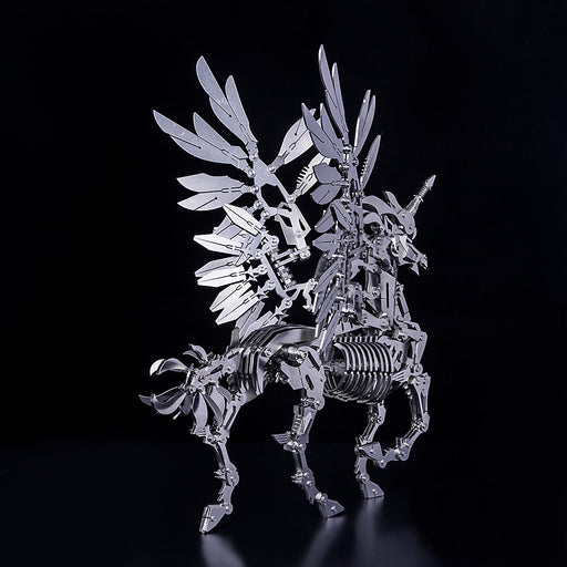 3D Puzzle Model Kit Mechanical Unicorn Metal Games DIY Assembly Jigsaw Crafts Creative Gift - enginediy