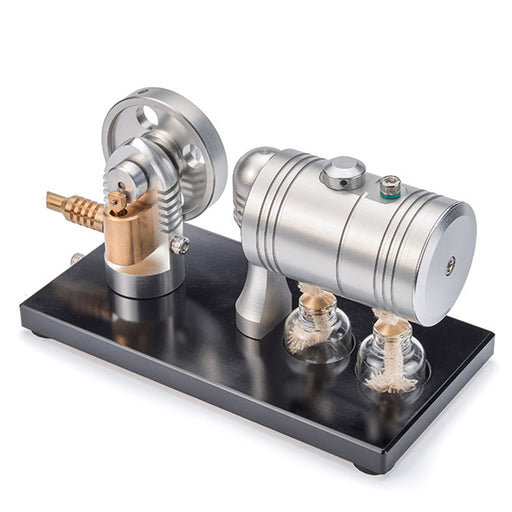 Retro Steam Engine Model with Bootable Steam Heating Boiler Steam Engine Science Toy - Enginediy