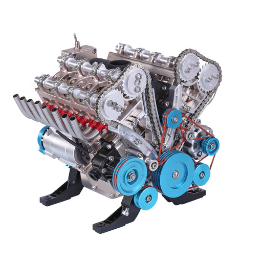 Teching V8 Engine Model Kit Metal Assembly DIY Kit 500+Pcs Mechanical Car Engine Science Experiment Physics Toy