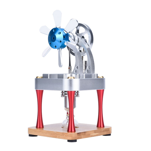 Air Cooled Metal Stirling Engine Model Science Education Collection Toy - enginediy