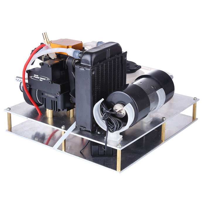 TOYAN Gasoline Engine Model DIY Micro Water-cooled Generator Set (with Water Pump / Radiator Water Tank / Thermometer)