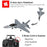 VOLANTEXRC F16 2.4G 4CH RC Airplane Fixed Wing Aerobatic Aircraft with Xpilot Gyroscope Flight Control System - RTF