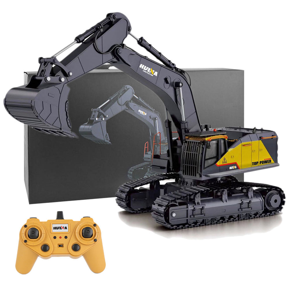 HUINA 1:14 22CH 2.4G RC Excavator Engineering Vehicle Model Alloy Construction Truck Unique Gift Collection - enginediy