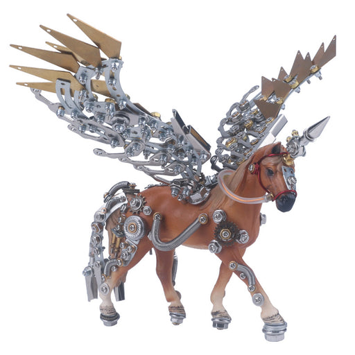 3D Metal Model Kit Mechanical Unicorn DIY Games Assembly Puzzle Jigsaw Creative Gift - 752Pcs - enginediy