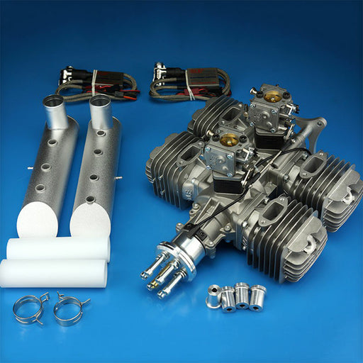 DLE222 222CC Four Cylinders 2-stroke Side Exhaust Air Cooled Gasoline Engine for RC Airplane Model - enginediy