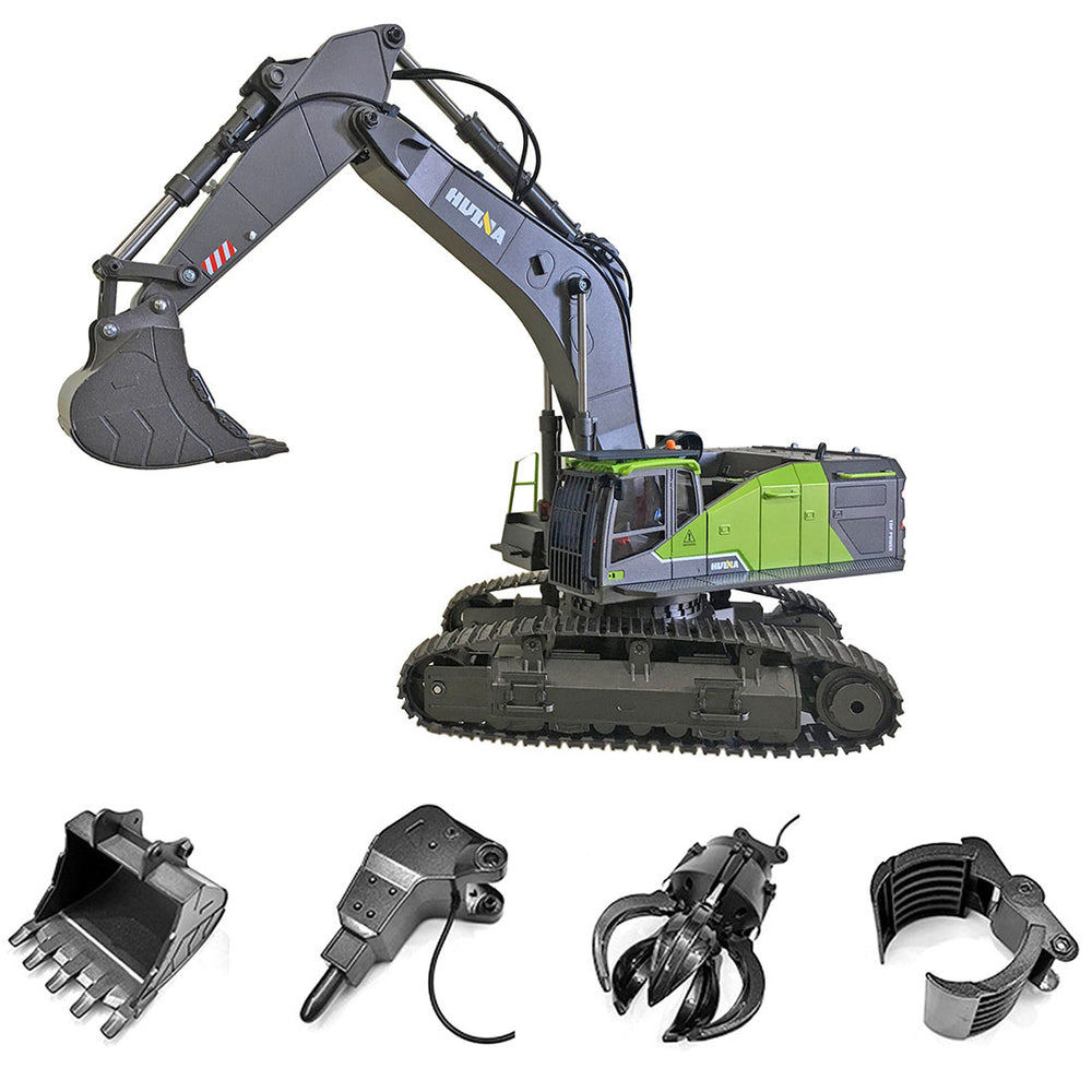HUINA 4-in-1 1: 14 22CH 2.4G RC Excavator Remote Control Truck Electric Engineering Vehicle Model Unique Gift for Kids, Teens and Adults - enginediy