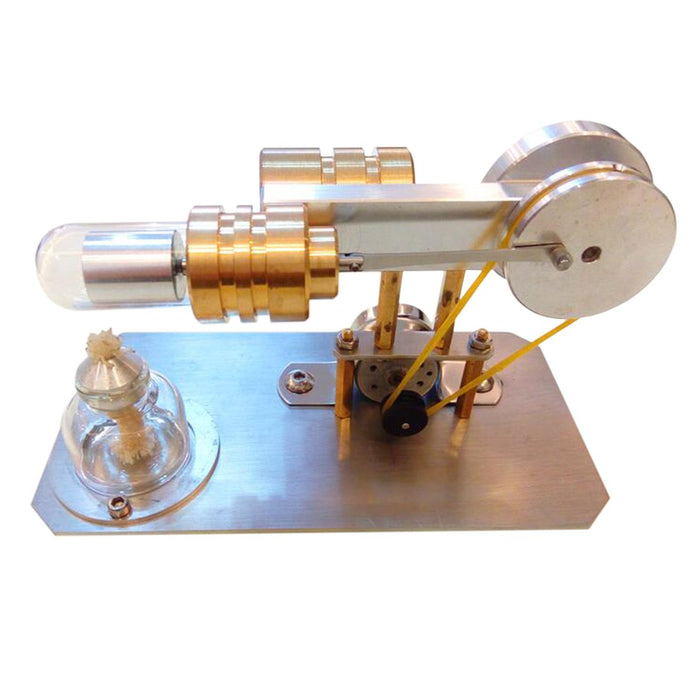 Stirling Engine Kit Single Cylinder Engine Motor Model with Stainless Steel Base - Enginediy - enginediy