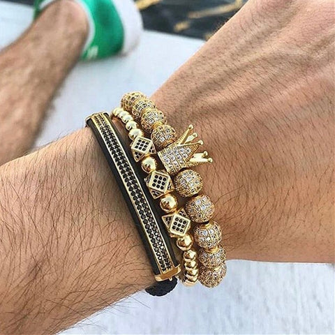 Luxury Gold Crown Bracelets