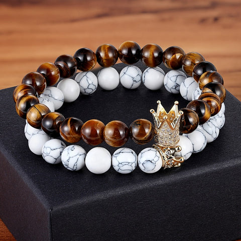 King Crown Couples Bracelets