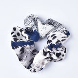 3 Pack Snake Skin Scrunchies