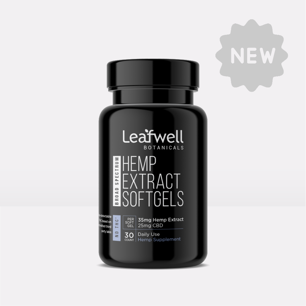 25mg CBD Softgels | 30 Count (ND THC*) - Leafwell Botanicals