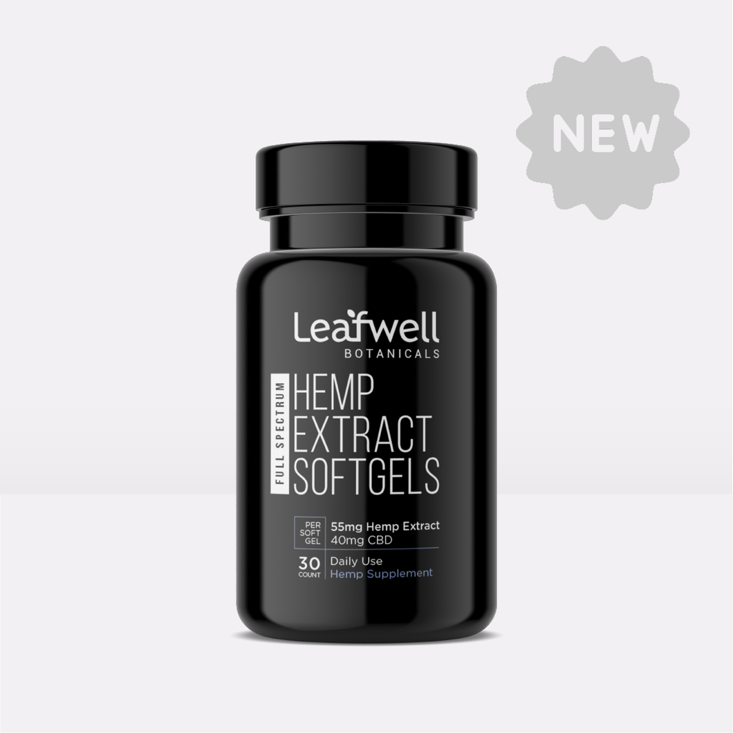 40mg CBD Softgels | 30 Count - Leafwell Botanicals