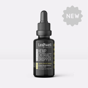 500mg CBD Drops | Flavor: Lemon, Lime & Turmeric (ND THC*) - Leafwell Botanicals