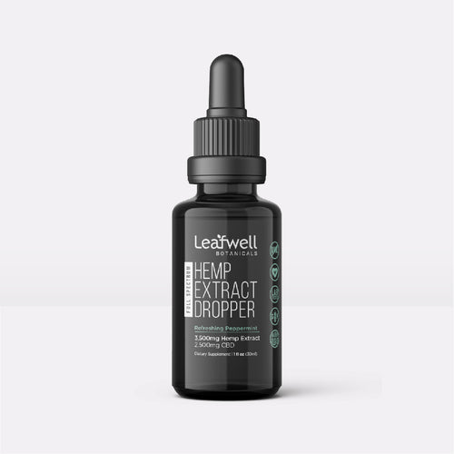 2,500mg CBD Drops | Flavor: Peppermint - Leafwell Botanicals