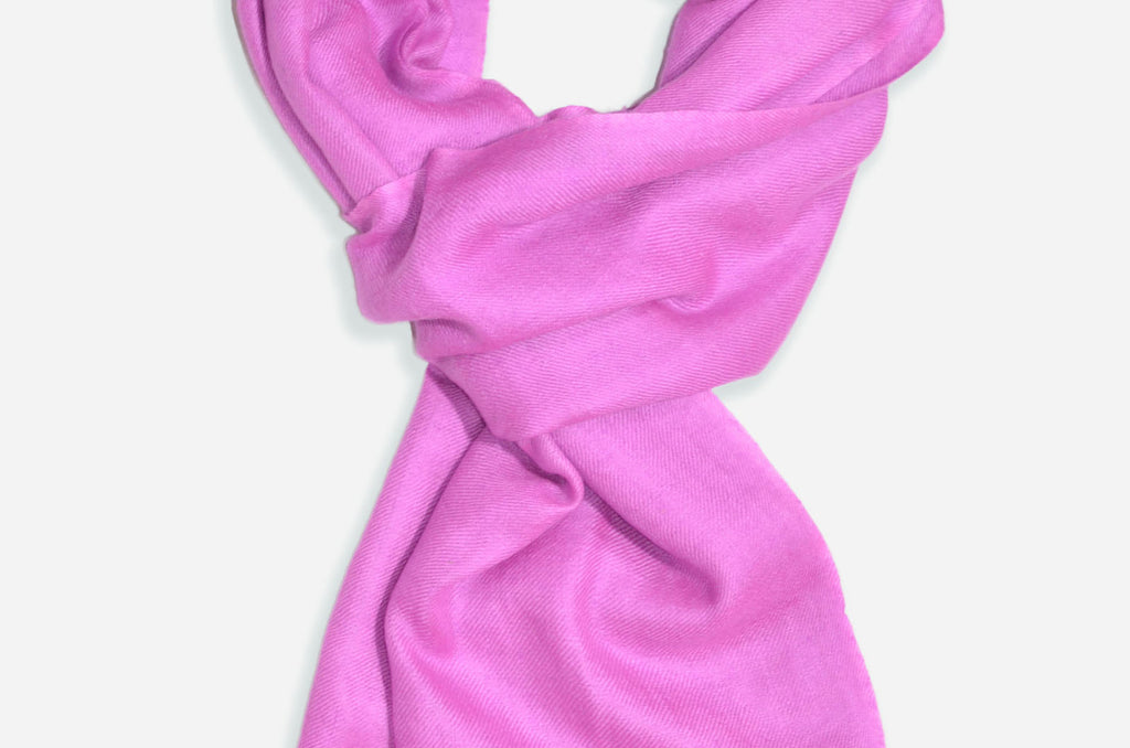 "Beautifully light and scrumptiously soft ""Lavender"" Cashmere Scarf is hand woven from the highest grade of 100% pure Cashmere from Kashmir"